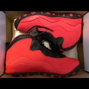 Jordan 10 Retro Fusion Red 7y